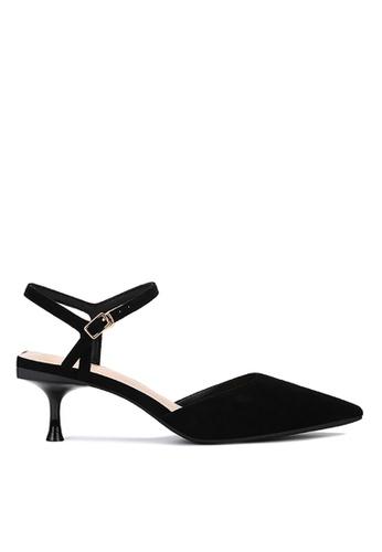 Twenty Eight Shoes 黑色 繞踝帶幼踭鞋198-30 753C6SH537FED8GS_1