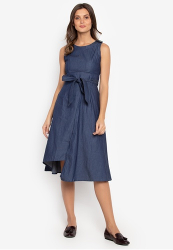 f354ad4ad5ca Shop Blued Ladies Chambray Dress With Tie Waist Online on ZALORA Philippines