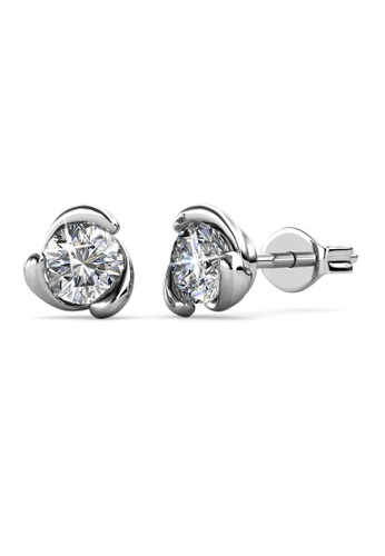 Her Jewellery silver Swarovski® Crystals - Rose Crystal Earrings (18K White Gold Plated) Her Jewellery HE581AC0SIDFMY_1