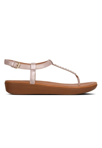 FitFlop pink Fitflop Tia Toe-Thong Crystal Blush/ Metallic Nude 02D12SH9728FC0GS_1