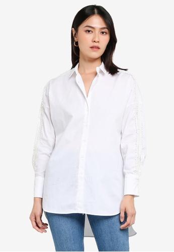 KOTON white Hi Low Hem Shirt 5245AAA1BB8E87GS_1