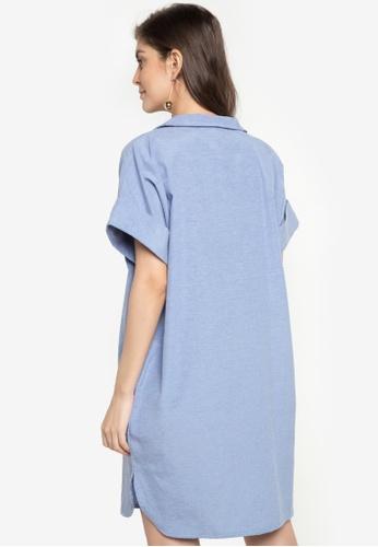 be0e503ff7c67 Shop ccicci Olivia Drop Shoulder Shirt Dress Online on ZALORA Philippines