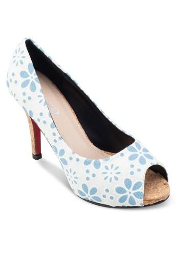印花露趾高跟鞋esprit香港分店, 女鞋, 魚口鞋