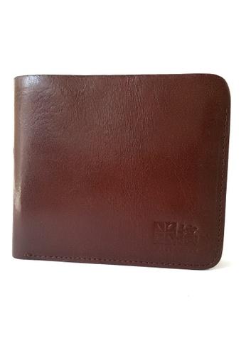 IXACC brown Vegetable Tanned Leather Slim Billfold Wallet IX982AC47CGAPH_1