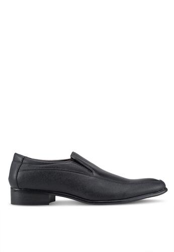 Rocklander 黑色 質感懶人皮鞋 E5E5DSH162CAA2GS_1