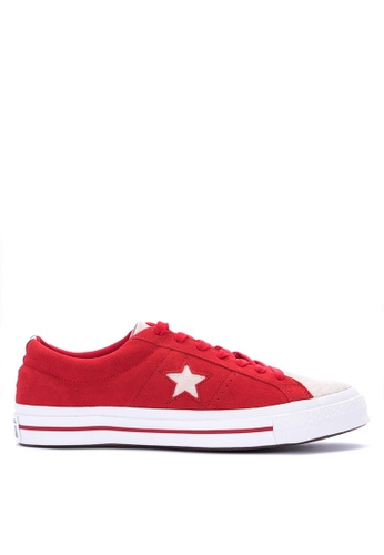 Converse red One Star Woven Era Sneakers F0480SHC1C0A1DGS_1