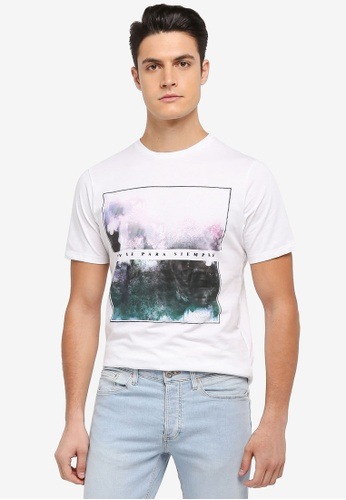 River Island white Smudge Graphic T-Shirt 09C9CAA11697B2GS_1