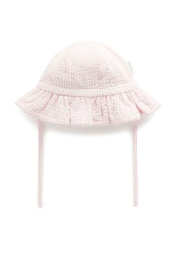 Purebaby pink Pink Stripe Sunhat D06AAKC320B41BGS_1