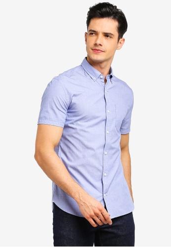 MANGO Man 藍色 質感襯衫 1B605AA5F9E289GS_1