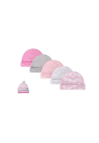 Little Kooma pink Baby 5pc Cap Set 52327CH - 0821 8B418KCA535A30GS_1