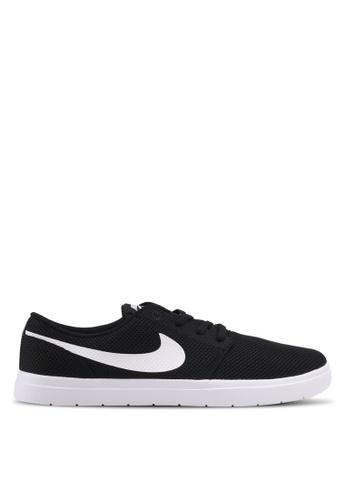Nike black and white Men's Nike SB Portmore II Ultralight Skateboarding Shoes NI126SH0STR0MY_1