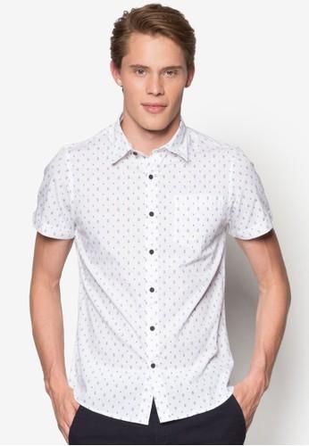 Tesprit台灣官網ravis 印花短袖襯衫, 服飾, 印花襯衫