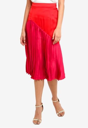 Little Mistress red Red Pleat Skirt 3B420AA5CCA064GS_1