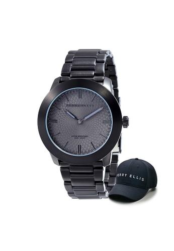 Perry Ellis black Perry Ellis Slim Line Unisex 42mm Quartz Stainless Steel Watch 07009-02 with Perry Ellis Cap 5728DACC587A27GS_1