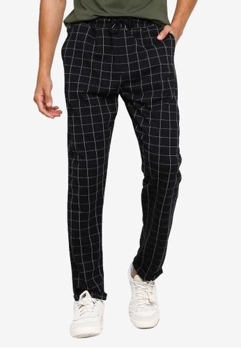 KOTON grey Checked Drawstring Pants 5A531AA1EE97EAGS_1