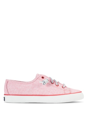 Sperry pink Seacoast Diamond Print Sneakers SP132SH30PLXMY_1
