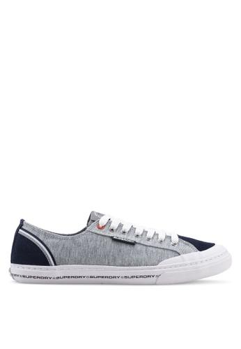 Superdry grey Low Pro Retro Sneakers 94C21SHEA53692GS_1