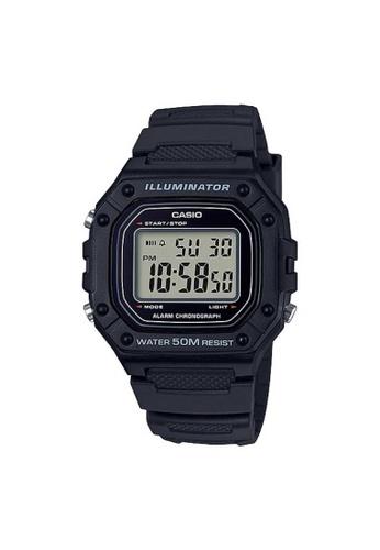 Casio black CASIO GENERAL W-218H-1AVDF UNISEX'S WATCH DE221AC20DAE28GS_1