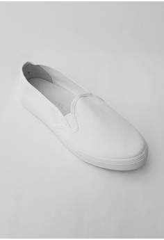 White Basic Slip On for Women