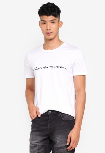 Jack & Jones white Matteo Crew Neck Tee 7483CAAE16D3BAGS_1