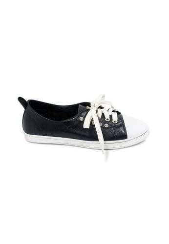 prettyFIT black Black Cowhide Leather Sneaker R-1862 PR787SH0GV0DSG_1