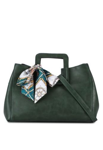 圍巾zalora taiwan 時尚購物網飾復古手提包, 包, 包