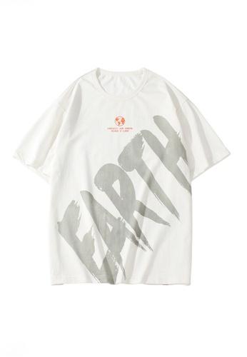 Twenty Eight Shoes 白色 VANSA 字母印花短袖T恤  VCM-T1005 36D69AA8200657GS_1