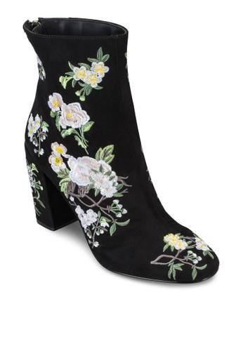 Athena 刺繡高跟筒靴,esprit outlet 家樂福 女鞋, 俏皮男孩風