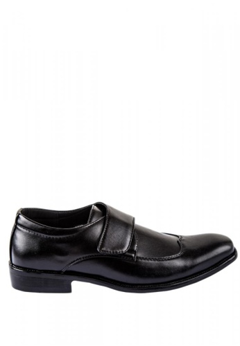 Otto black Velcro Strap Formal Shoes A612ASH4A31728GS_1