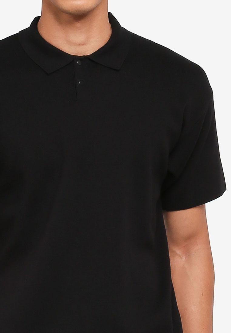 AT Knit Polo TWENTY Knit black Knit AT TWENTY Knit TWENTY Polo AT Polo black black z7nqwFnZx