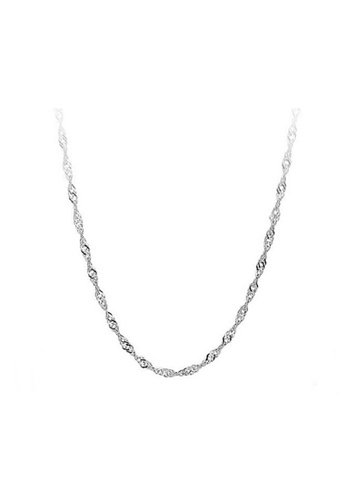 Elfi silver 925 Sterling Silver Water Wave Chain Necklace EL186AC28NGDMY_1