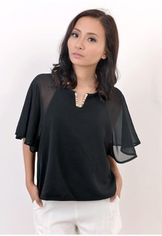 Elise Boxy Top in Black
