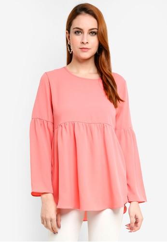 Aqeela Muslimah Wear pink Gathered Top 76A2FAA1C843C8GS_1