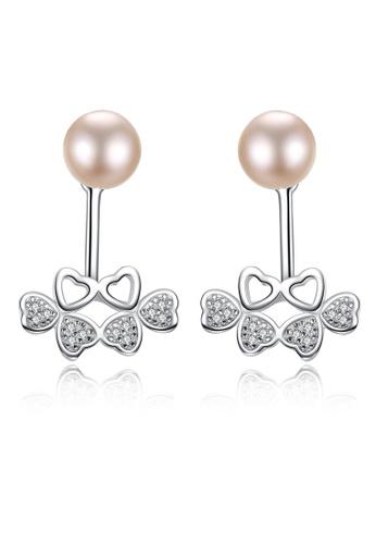 SUNRAIS silver High-grade colored stone silver heart-shaped earrings E4AFDAC291C722GS_1