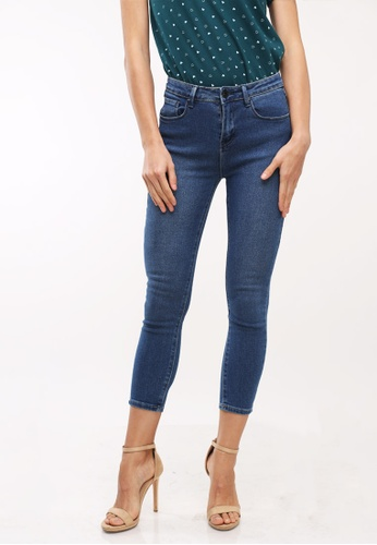 No Apologies blue Denim Long Pants High Waist Ladies 1D80FAABDBB9FAGS_1