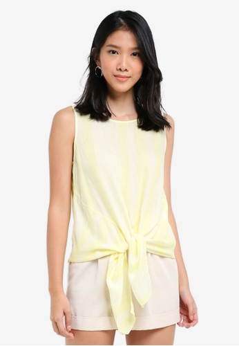 ESPRIT yellow Woven Sleeveless Blouse 81743AA89AEE9CGS_1