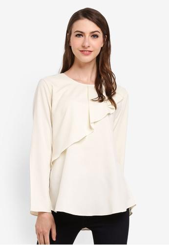 Aqeela Muslimah Wear white Qhalisha Pleated Top C5A95AA161AD36GS_1