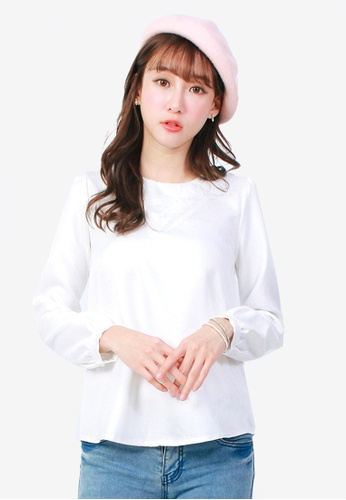 Yoco white Lace Insert Top 340ACAA539F132GS_1