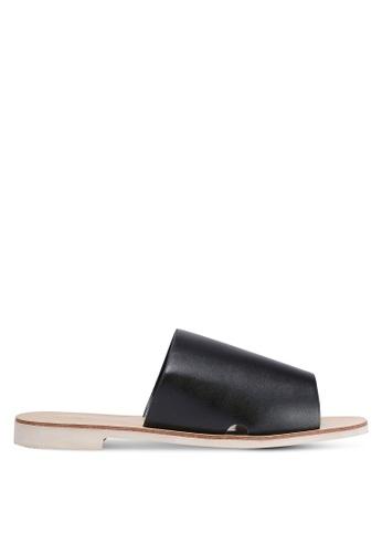 Something Borrowed black Slip On Sandals 8F7BDSH54149E2GS_1