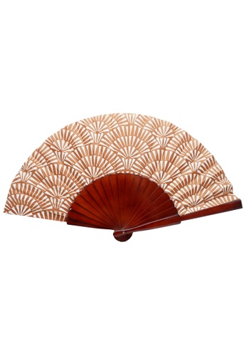 Stylesource brown New Summer Vintage Wooden Fan 30cm Printed 3D3A6AC7E6E610GS_1