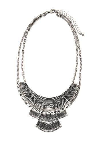 Jaysa Collection silver Aztec Art Silver Necklace JA875AC0F7HUSG_1