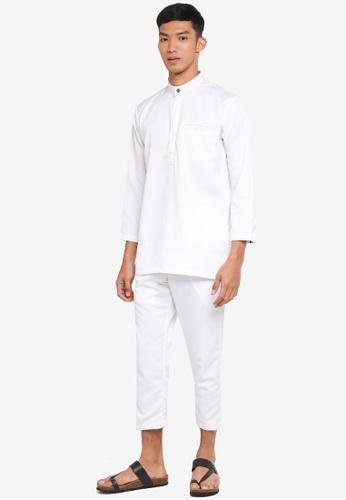 Klozet Kuala Lumpur 白色 Baju Melayu Regular Ghazal 套裝 6DB21AAF8170C7GS_1