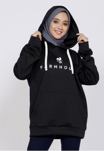 ZAHRA SIGNATURE black Sweater Hoodie FM EBB8DAAD4A6CE1GS_1