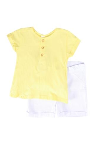 LC Waikiki yellow Baby Boys T-Shirt And Shorts 5683EKA458B980GS_1