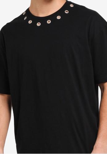 Rivet Hole Oversized T-Shirt