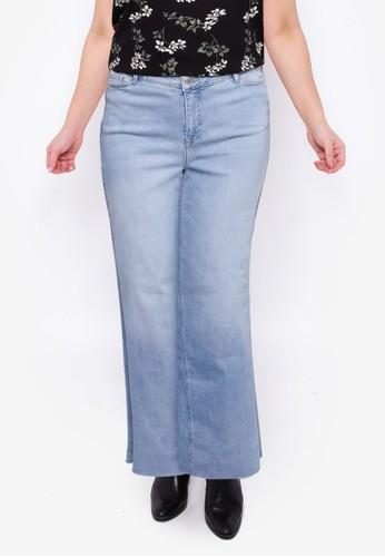 Vero Moda blue Plus Size Charlotte Wide Jeans 225F3AAE4F82C6GS_1