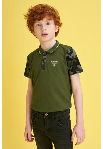 DeFacto green Boy Knitted Short Sleeve Polo T-Shirt 55A99KA5B0EB4DGS_1