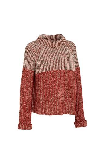 Universal Traveller red Universal Traveller Turtleneck Knitted Sweater - KSW 9153 9401DAAC2ECEF9GS_1