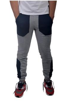Men's Cotton Jogger Pants Patch Pocket