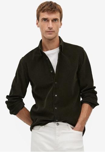Mango Man green Slim-Fit Corduroy Shirt 79955AAED9CAC0GS_1